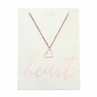 Halskette Herz Rose