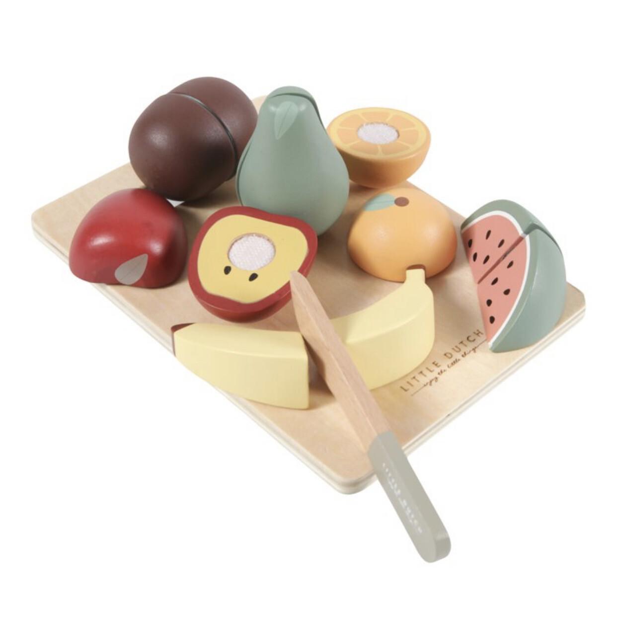Holz Obst oder Gemüse zum Schneiden Little Dutch