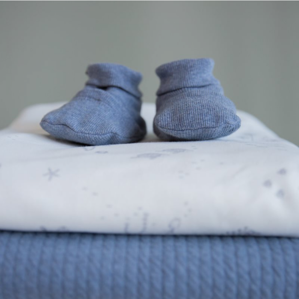 Babyschuhe Blau Little Dutch