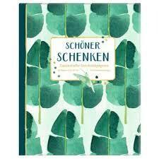 Geschenkpapier-Buch Grün
