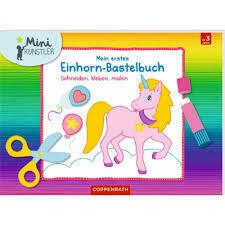 Mini Bastelbuch Einhorn