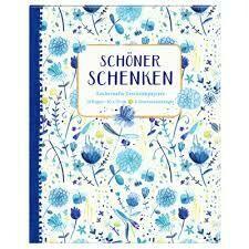 Geschenkpapier-Buch Blau