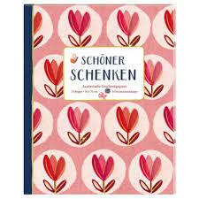 Geschenkpapier-Buch Rot