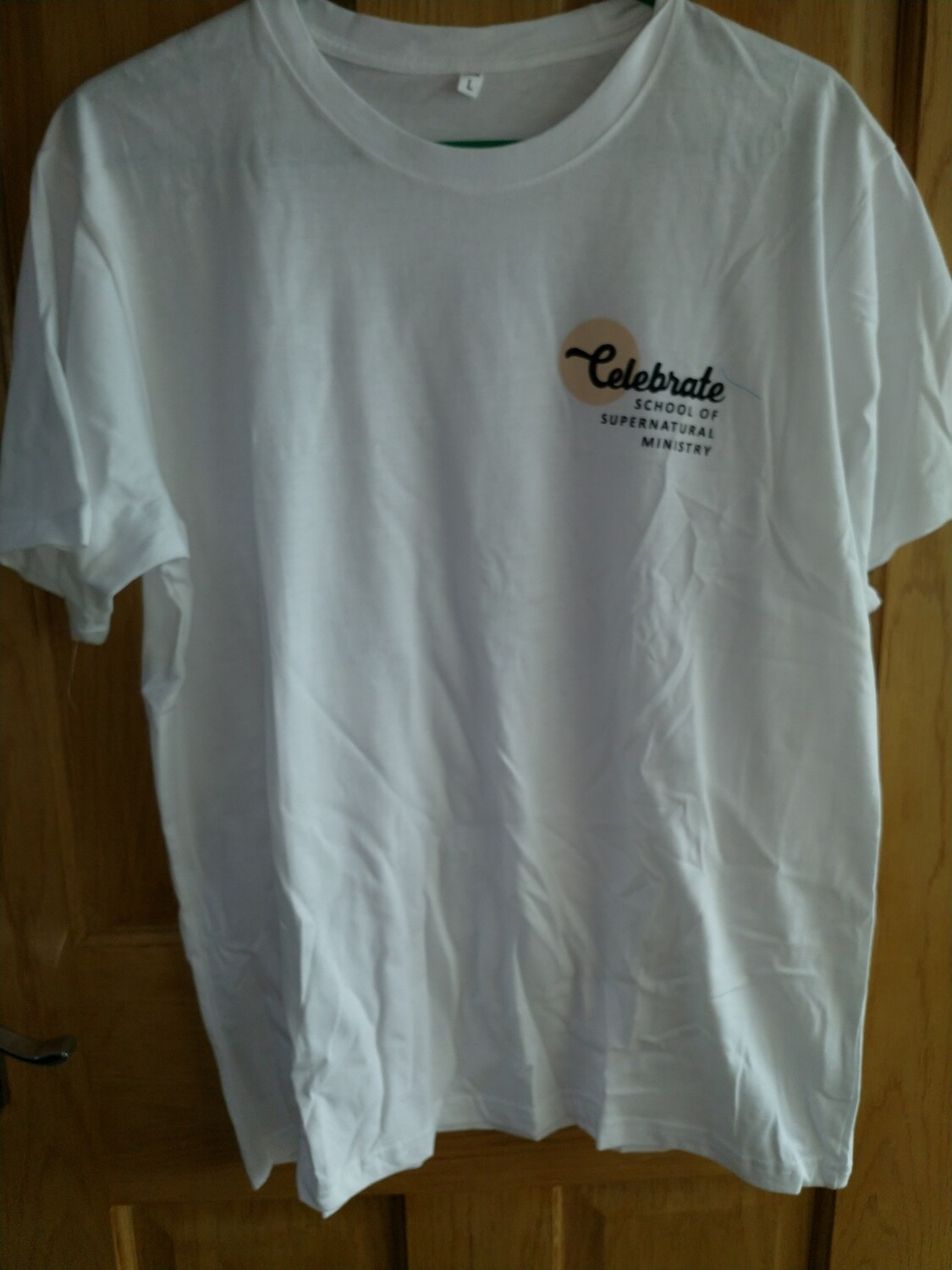 Celebrate School T shirt Straight bottom white