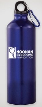 26 oz. Aluminum Water Bottle with Matching Carabine - Blue