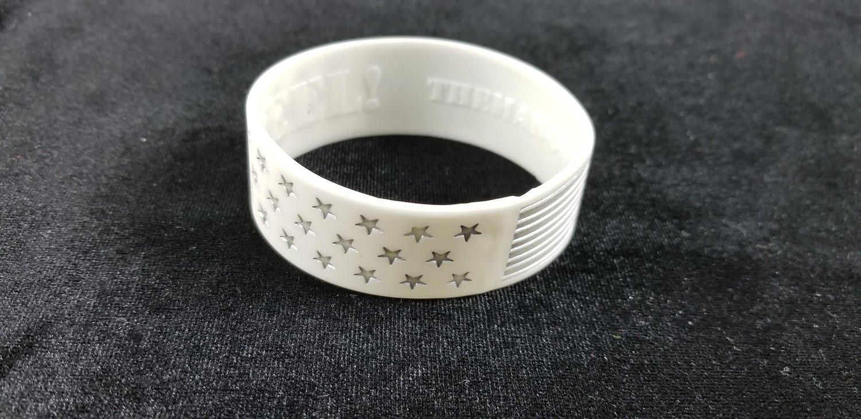White Steel Stars Bracelet
