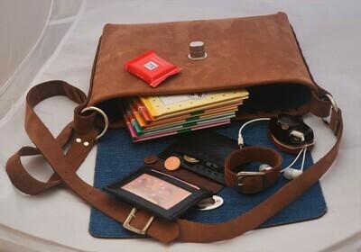 Handgemachte Ledertasche / Laptoptasche