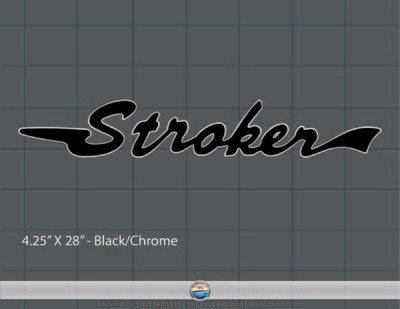 Stroker Domed Decal Set, Choose Your Own Color!