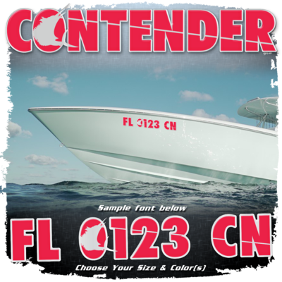 Contender Registration (2 included), Choose Your Own Colors