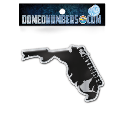 Florida Contender Domed Decal, Choose Your Size