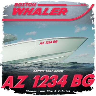 Boston Whaler Registration (2 included), Choose Your Own Colors