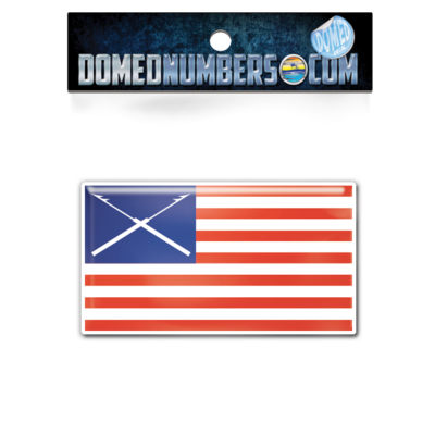 Boston Whaler Flag Domed Decal, Choose Your Size