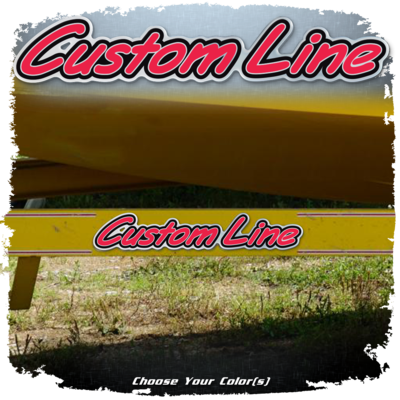 Domed Custom Line Decals, Choose your Fill Color