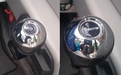 Malibu Throttle Knob domed decal