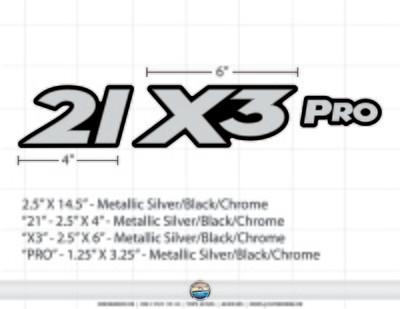 Triton 21 X3 Pro Metallic Silver