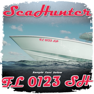 Sea Hunter Registration, Choose Your Own Colors  (2 included)