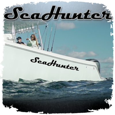 Domed Sea Hunter Decal, Choose Your Size & Colors