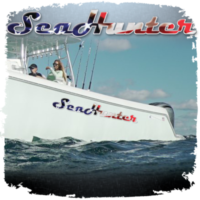 Domed Sea Hunter USA Decal, Choose Your Size