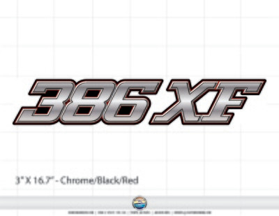 Stratos 386 XF domed decal set