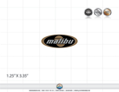 Malibu 2002-03 Oval Domed Decal (2 included)