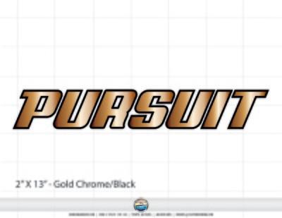 PURSUIT brand decal set