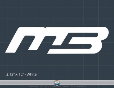 MB domed window decal