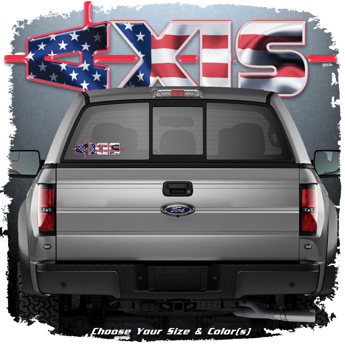 AXIS Truck Decal with Flag Pattern