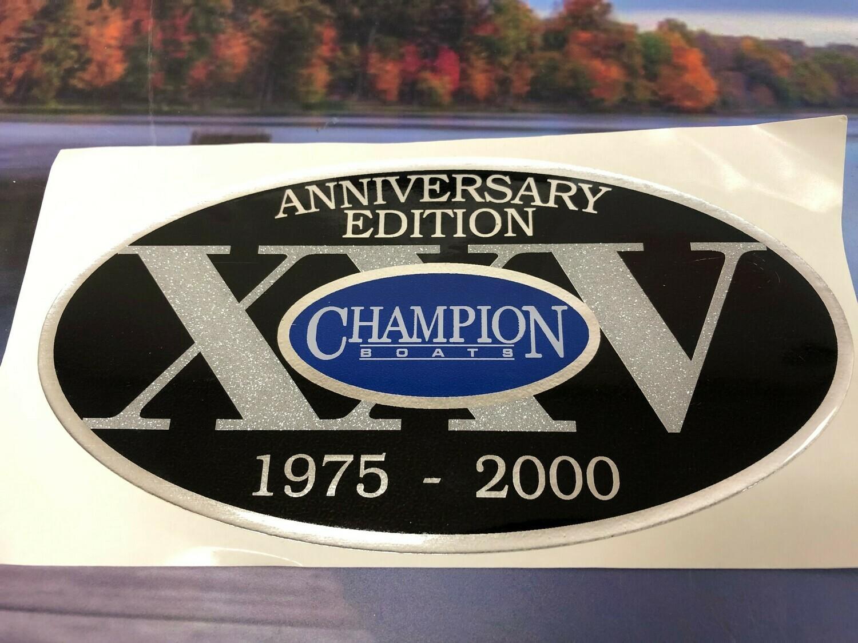 Champion 25 Anniversary Edition Decal