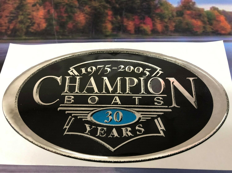 Champion 30 Anniversary Edition Decal