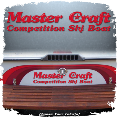 MasterCraft Stars & Stripes ('80-'85) Transom Decal, Choose Your Color