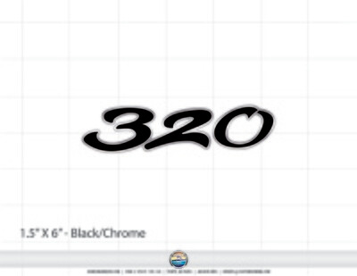 Sea Ray 320 domed decal (3 included)