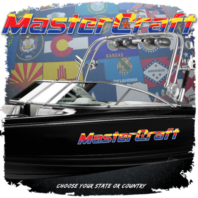MasterCraft State Flag Domed Decal, Choose your Size and Flag (Includes 1 Decal)
