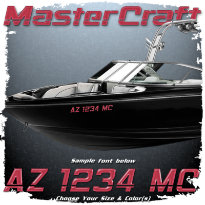 MasterCraft 90's Edition Domed Registration, Choose Your Own Colors  (2 included)