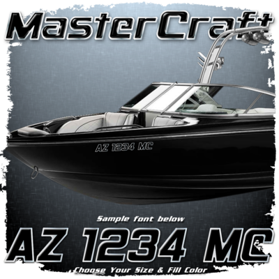 MasterCraft Domed Registration, 2014 - Current, Choose Your Own Colors (2 included)