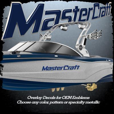 MasterCraft Domed Emblem Overlay Set, Choose Your Color! (Includes both sides)
