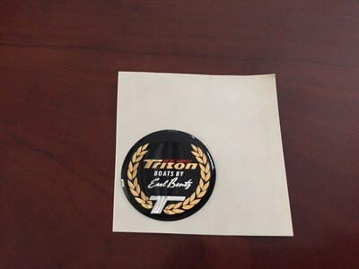 Triton Boats Domed Decal, 2 sizes available