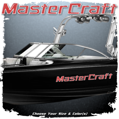 MasterCraft Domed Decal, 2000-2013, Choose Your Size and Color (1 Decal Included)