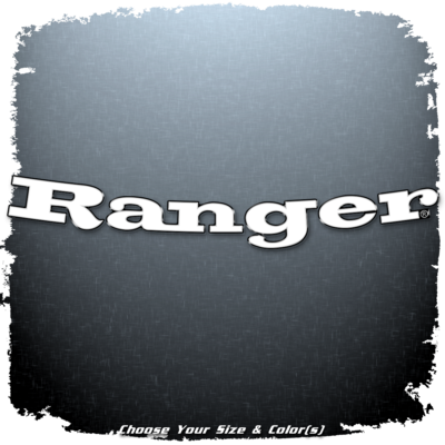 Ranger Boats Curved Decal for Windshield