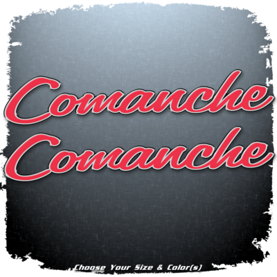 Ranger Boats Comanche Domed Decal Set V3 (2 included)