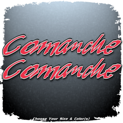 Ranger Boats Comanche Domed Decal Set V2 (2 included)