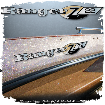 Ranger Boats Z SERIES Domed Decal set, Choose Your Model and Color (2 Decals Included)