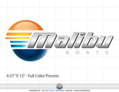 Domed Malibu Boats Window Decal