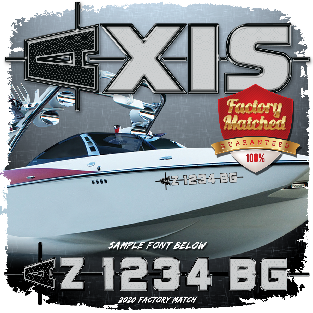 AXIS 2020-21 Registration (2 included), Factory Matched Colors