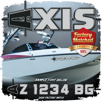 AXIS 2020 - 2021 Registration (2 included), Black & Metallic Silver Factory Match