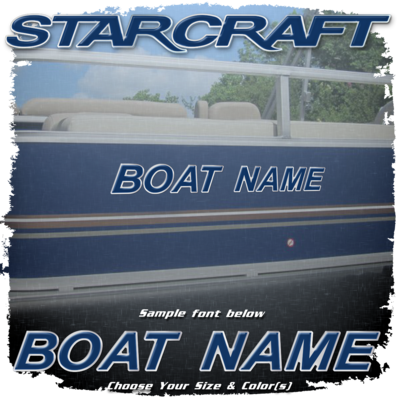 Domed Boat Name in the Starcraft Font, Choose Your Own Colors