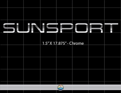 SUNSPORT CHROME (1 decal included)