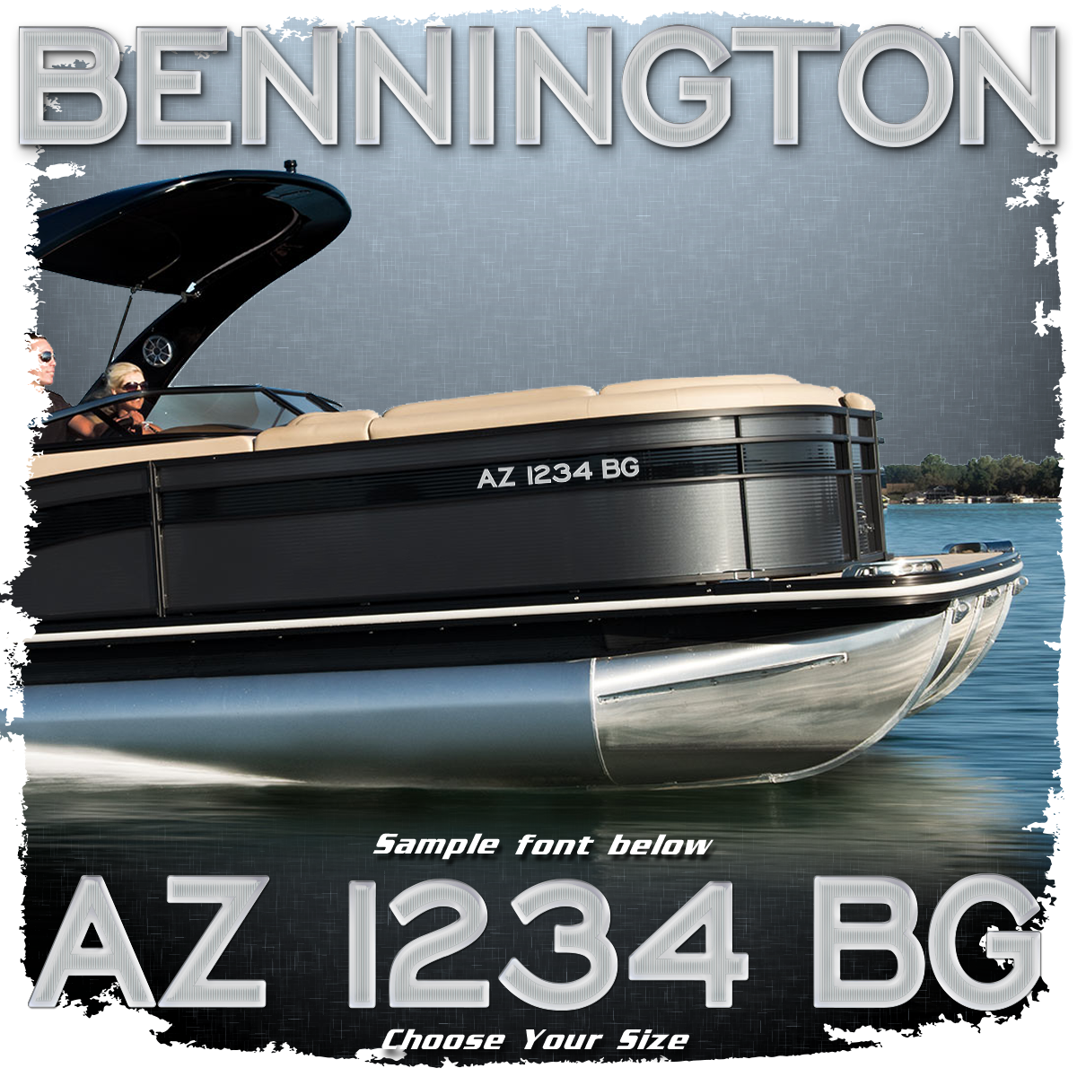 Bennington Logo Style #2 Factory Matched Registration (2 included)