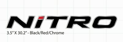 Domed Nitro Decal - Choose Your Own Colors! (1 decal)