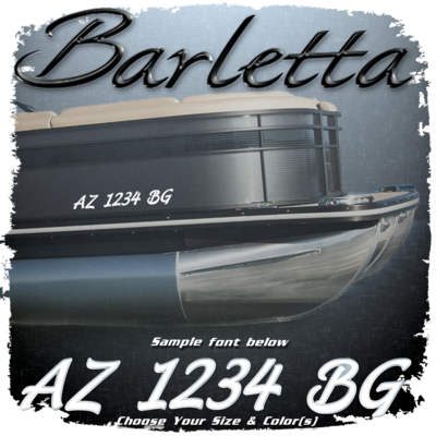 Barletta Script Registration (2 included), Choose Your Own Colors