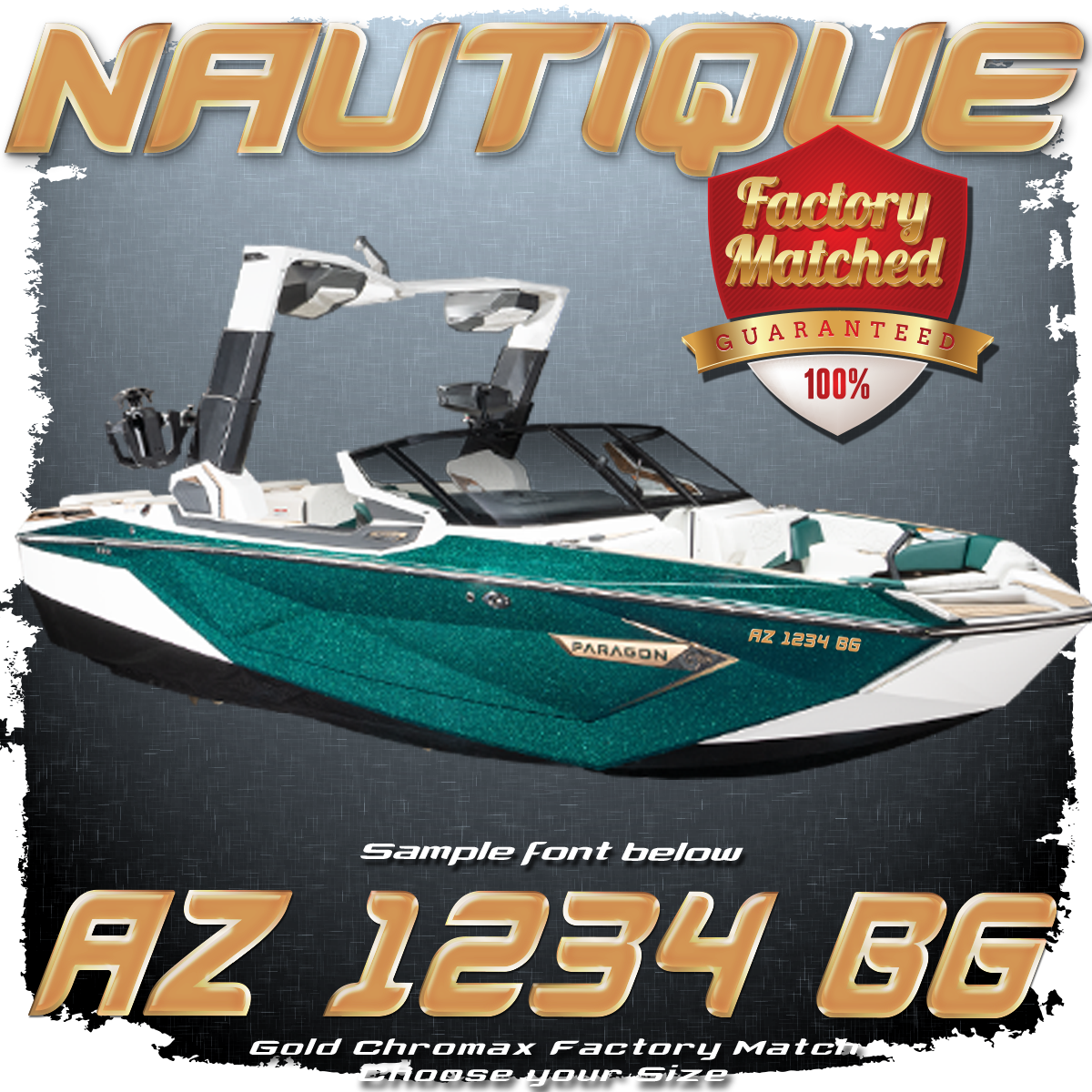 Nautique Registration Gold Illusion Frost (2 included)